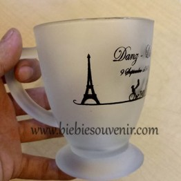 souvenir pernikahan gelas oval