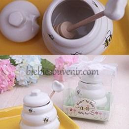 souvenir pernikahan Honeypot porcelain jar (5)