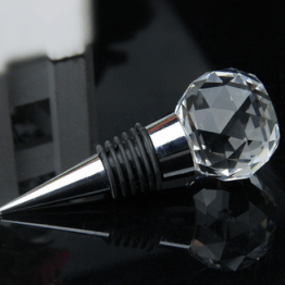 souvenir pernikahan crystal ball wine stopper elegan (5)