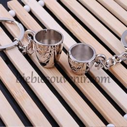 souvenir pernikahan gantungan kunci gelas