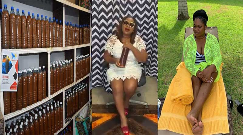 Mama Gee arrested by FDA Juju love charm Ghana girls shop at Madina Rawlings Park.
