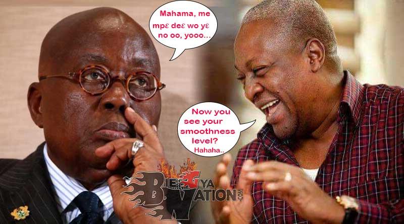 John Mahama competent Nana Akufo-Addo incompetent.