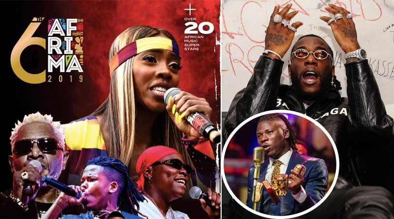 2019 afrima winners list Burna Boy Tiwa Savage Stonebwoy Wizkid Nasty C.
