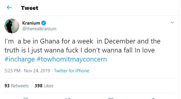 Kranium Jamaican dancehall reggae artist visits Ghana ladies twitter.