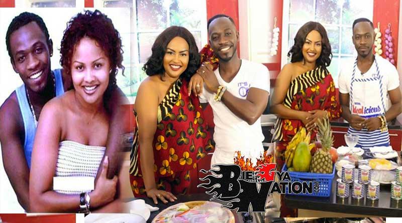 Nana Ama McBrown and Okyeame Kwame on McBrown's Kitchen show.