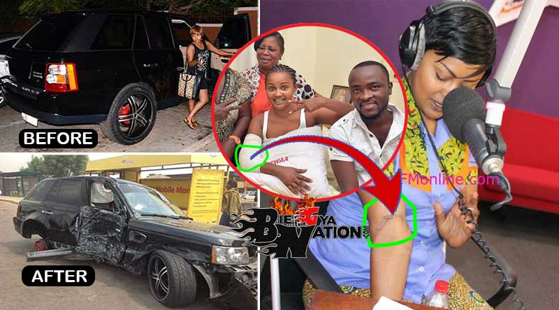 nana ama mcbrown maxwell involved in accident with black range rover.