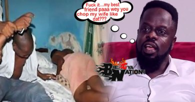 Ofori Amponsah caught wife with best friend in bed.