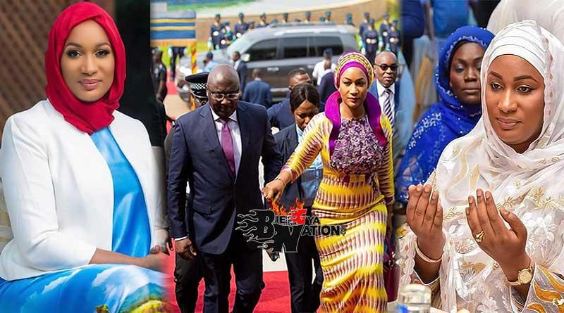 Samira Bawumia with husband Alhaji Dr Mahamudu Bawumia on red carpet