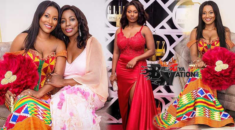 Tracy Sarkcess Owusu Addo parents with her mother