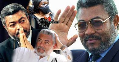 Jerry John JJ Rawlings laid to rest goes home after funeral and burial rites performed at Burma Camp Military cemetery