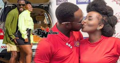 Okyeame Kwame wife Annica kiss unconditional love