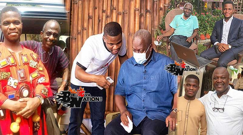 Sammy Gyamfi with John Mahama, Tsatsu Tsikata, Johnson Asiedu Nketia.