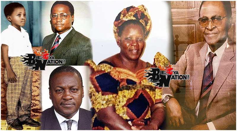 John Mahama childhood photos and parents, his father Mr Emmanuel Adama Mahama and mother Hajia Abiba Nnaba Suluwu