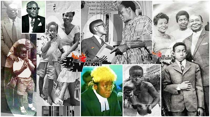 Nana Addo Dankwa Akufo Addo childhood photos with his father Edward Akufo Addo, mother Adeline, Osagyefo Dr. Kwame Nkrumah