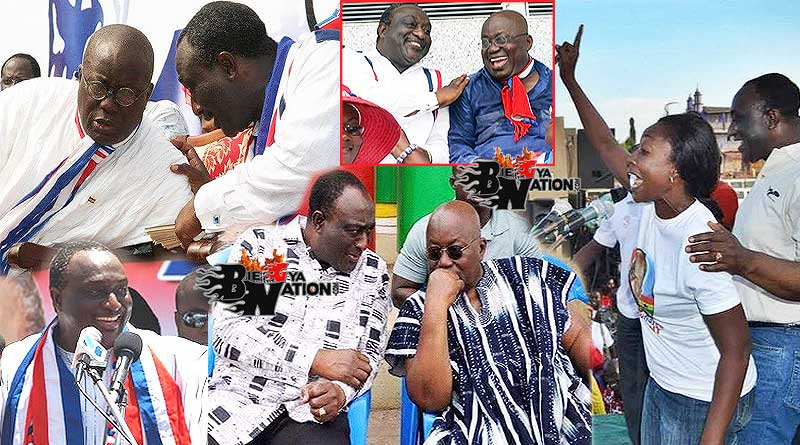 Alan Cash John Kwadwo Kyeremanten and Nana Addo Dankwa Akufo-Addo, and his wife Madam Patricia Christabel Kyerematen.