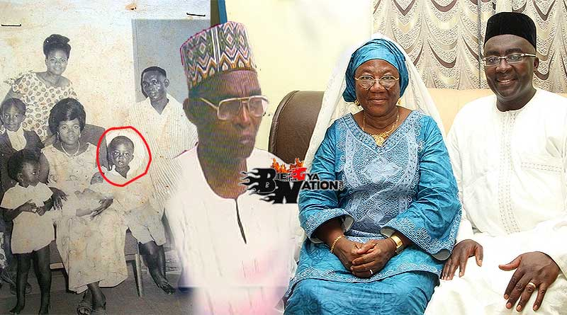 Dr Mahamudu Bawumia with his mother, Hajia Mariama Bawumia, late father Alhaji Mumuni Bawumia, childhood photo