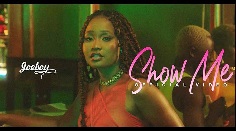 Joeboy performing Show Me Official Music Video directed by Ademola Famolo, song produced by Mex Flairz.