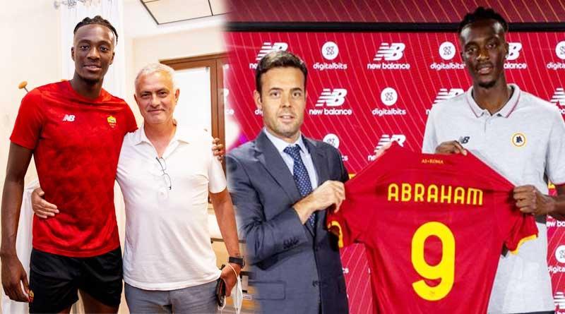 Tammy Abraham with Jose Mourinho at AS Roma.