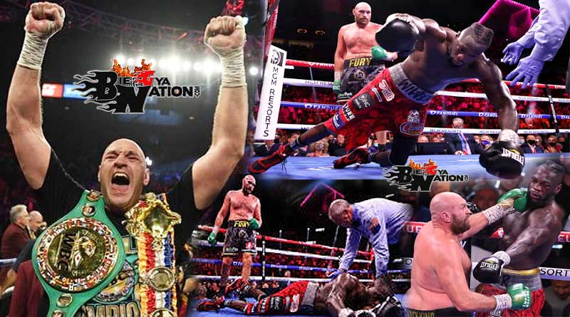Tyson Fury beats Deontay Wilder via 11th-round TKO to retain WBC heavyweight titles.