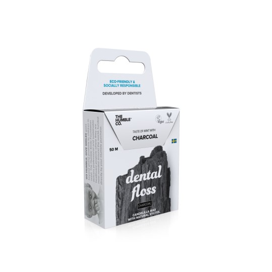 Dental Floss Charcoal Angle Packaging