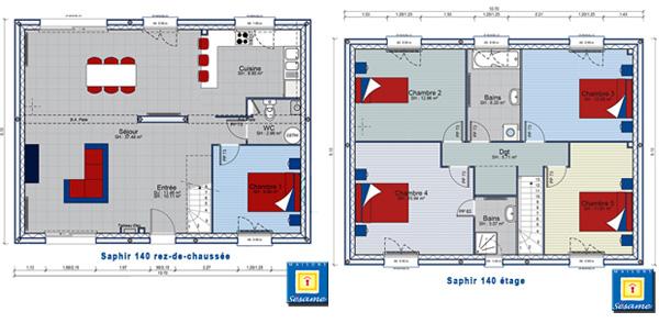La maison saphir conçue en 140 m2 habitables