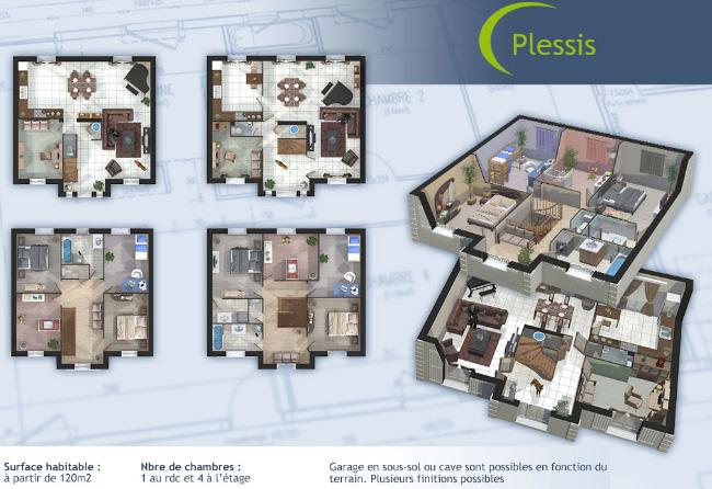 Plans en 3D de Plessis