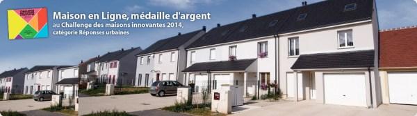 Eco-quartier de 19 maisons à Nanteuil le Haudouin dans l'Oise, pour lequel il a obtenu une médaille d'argent dans la catégorie « réponses urbaines » lors du Challenge des Maisons Innovantes de l'UMF.