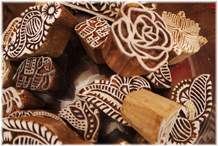 Sammlung-indische Holzstempel vonwww.bilasari.com