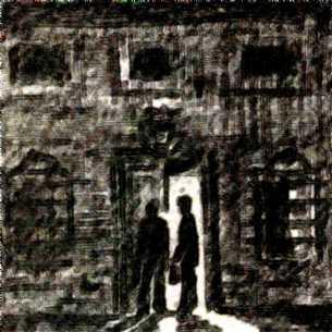 Los hombres a la puerta