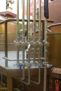 Leidingwerk brouwhuis Texelse Bierbrouwerij