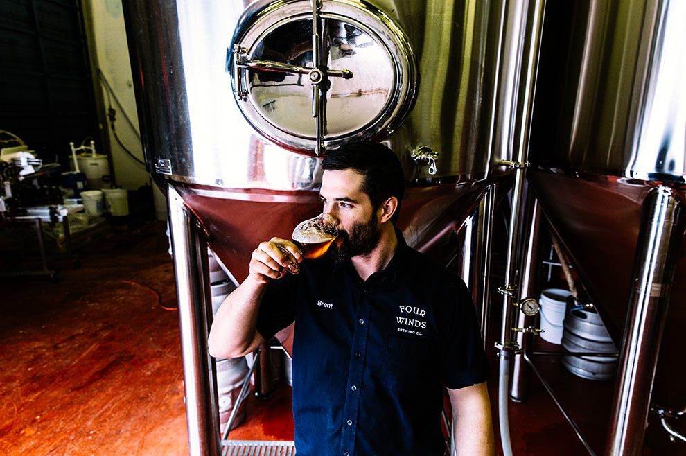 Brent Mills of Four Winds Brewing Company - all photos by Alison Page