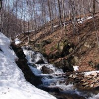 Wodospad w Berehach Górnych