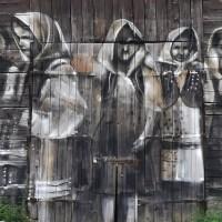 Mural nr 1 w Komańczy