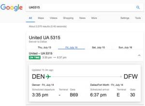 Check the Flight Status with Google