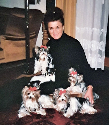 Gertrud Biewer and her Biewer Yorkies