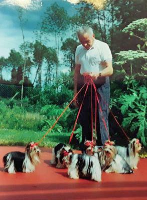 Werner Biewer and his Biewer Yorkies