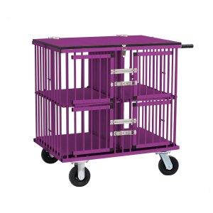 4-berth dog show trolley purple