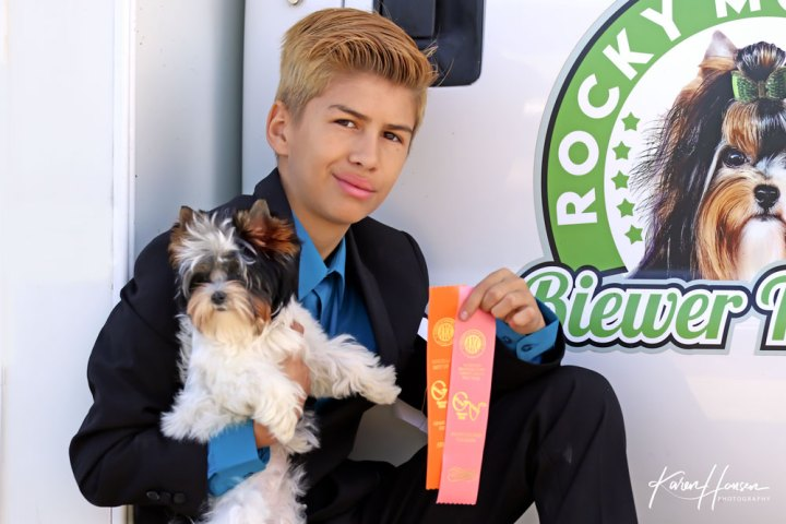 Leon Hansen with Zodiac Best Puppy in Misc. Show