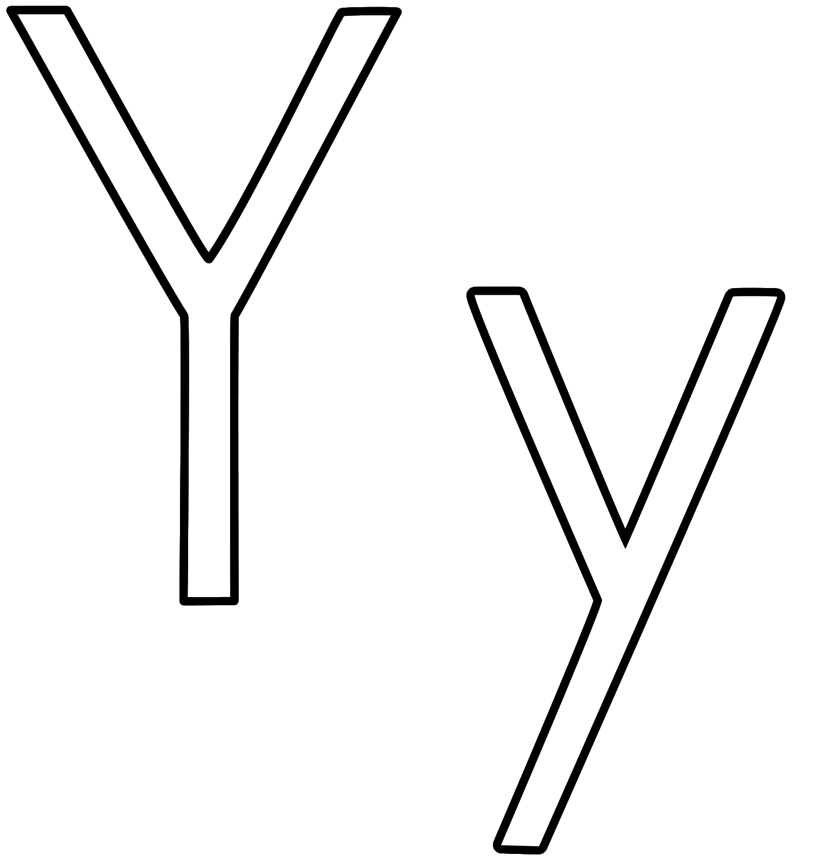 Letter Y Clipart Black And White