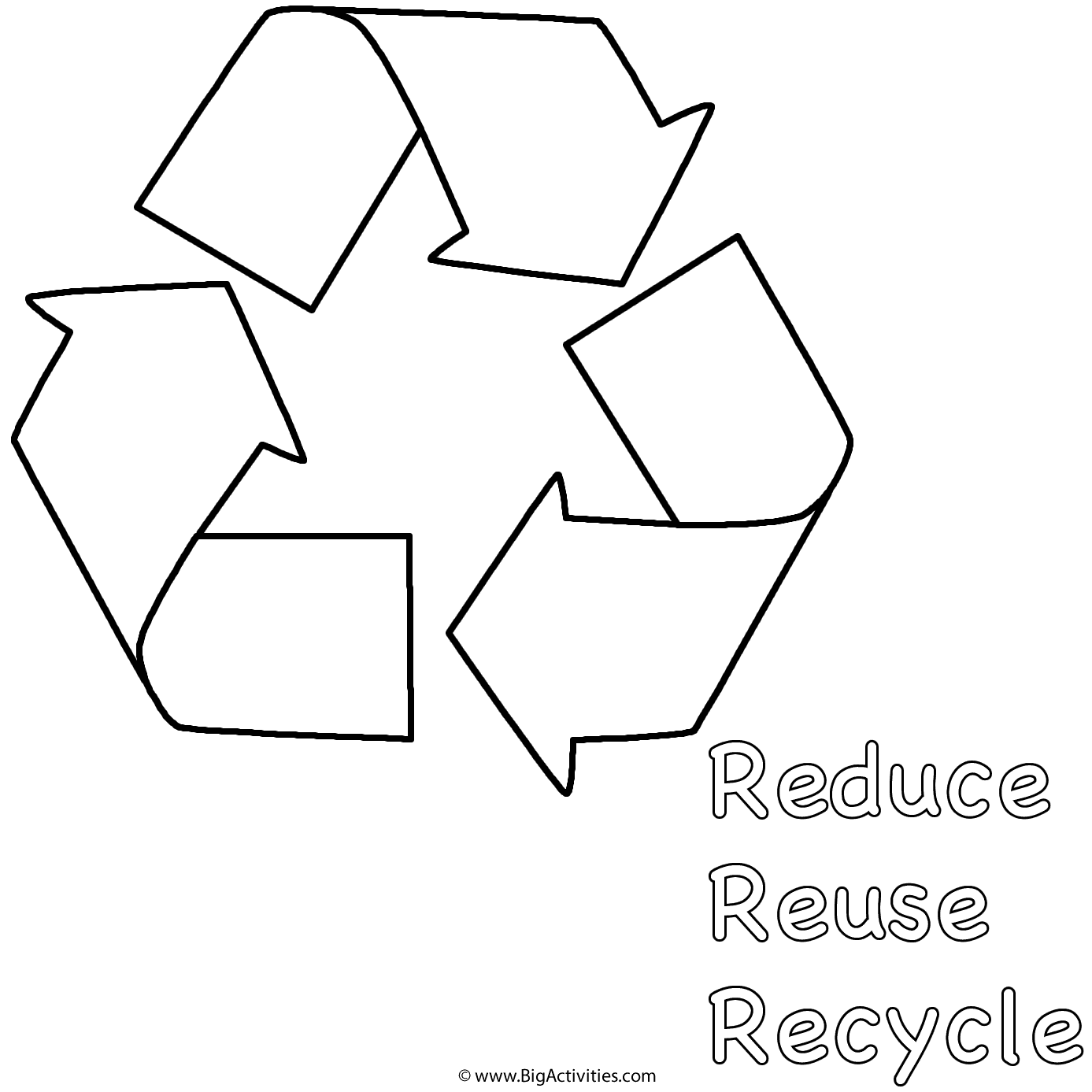 Reduce Reuse Recycle Coloring Pages Coloring Pages
