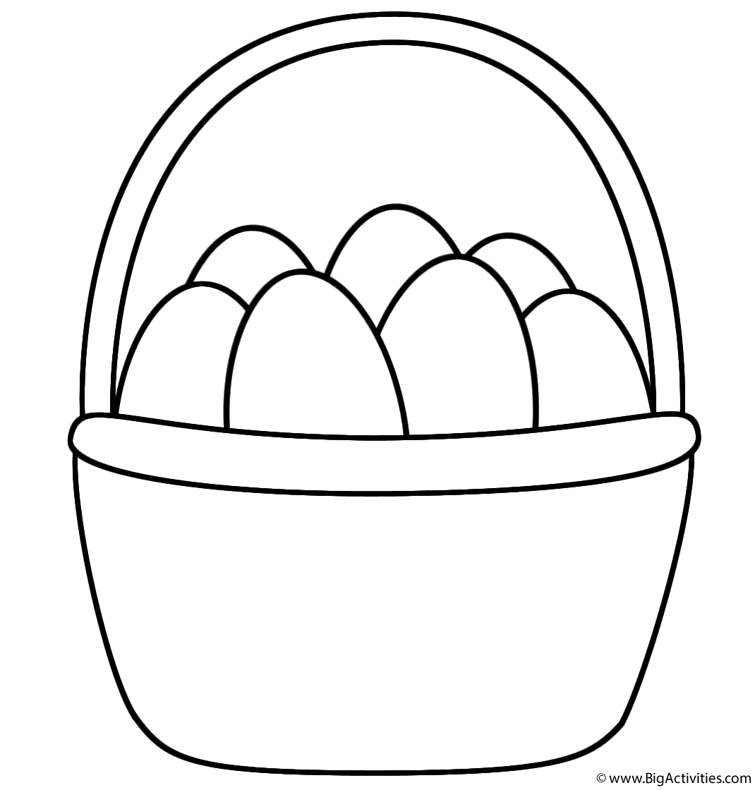 Easter Basket With Eggs