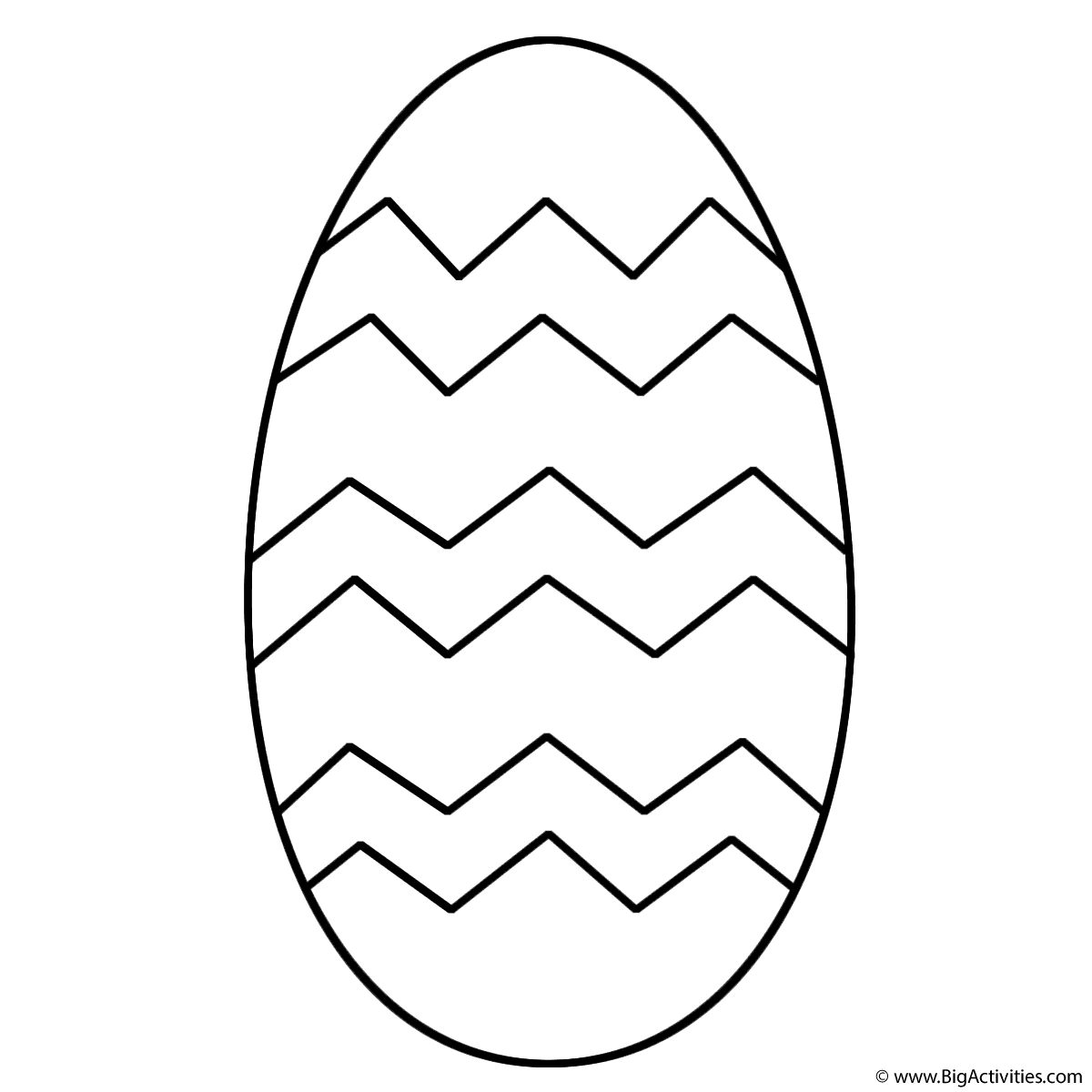 Easter Egg With Patterns