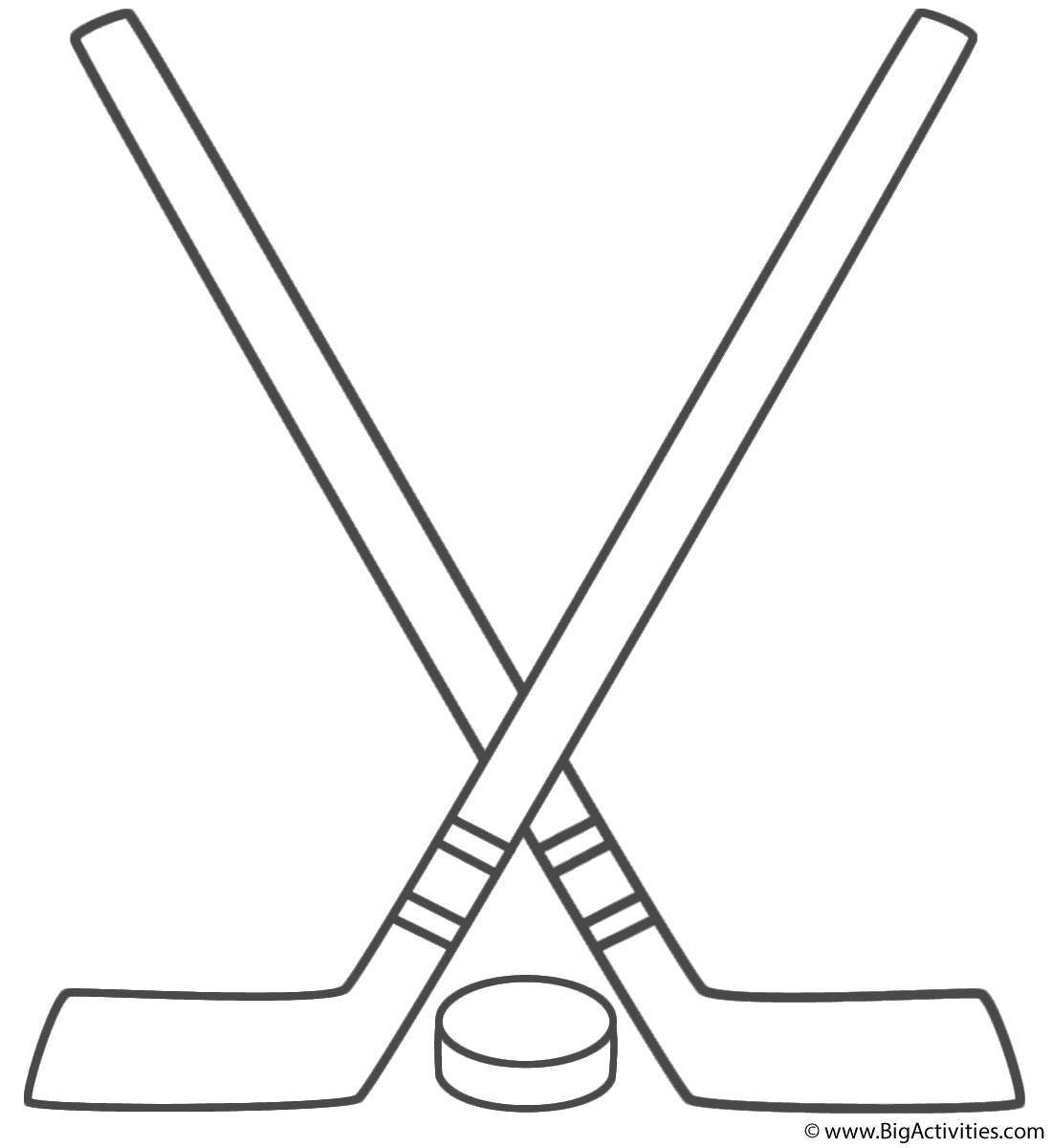Hockey Sticks With Puck