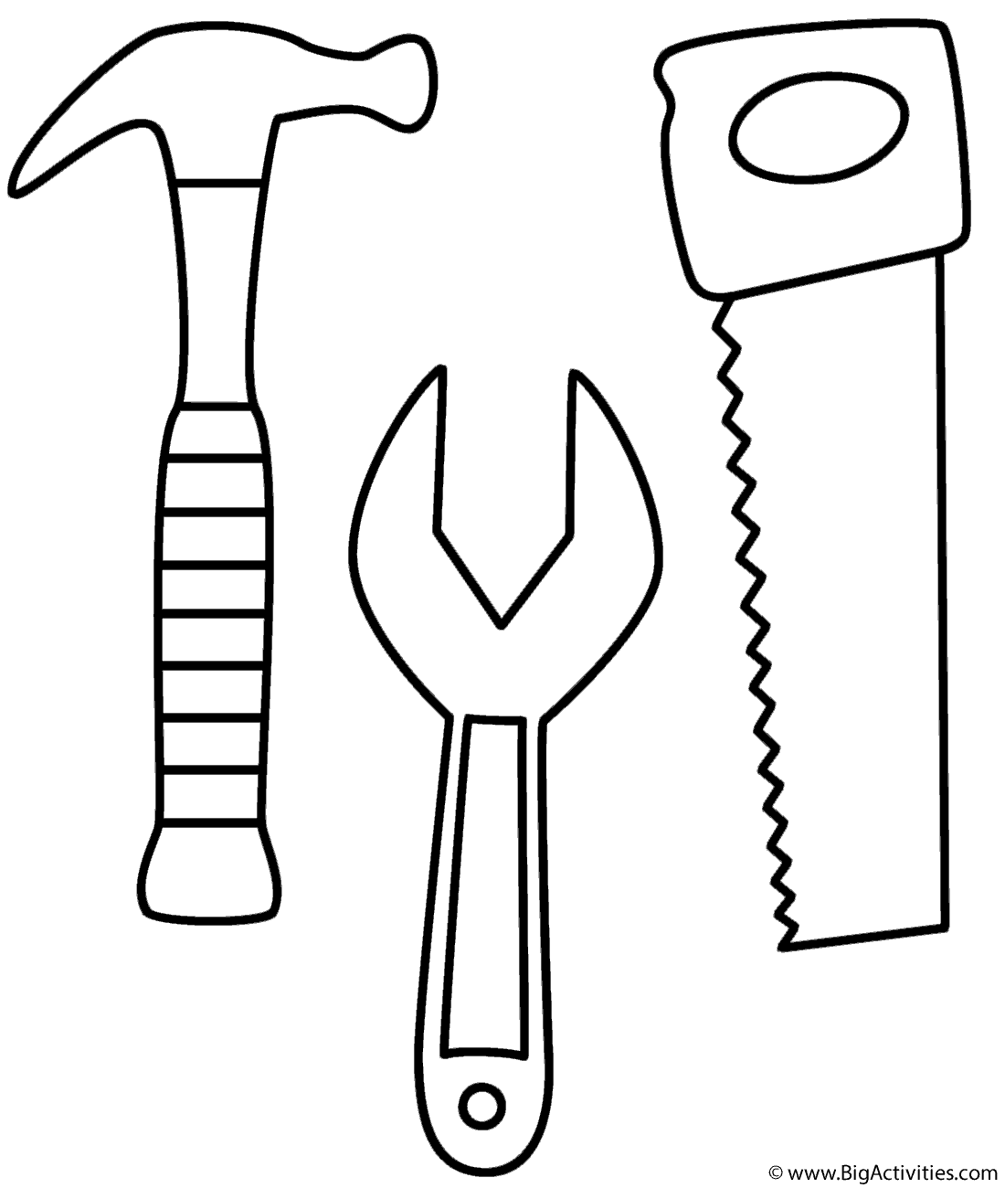 Hammer Saw And Wrench