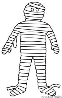 halloween mummy coloring pages
