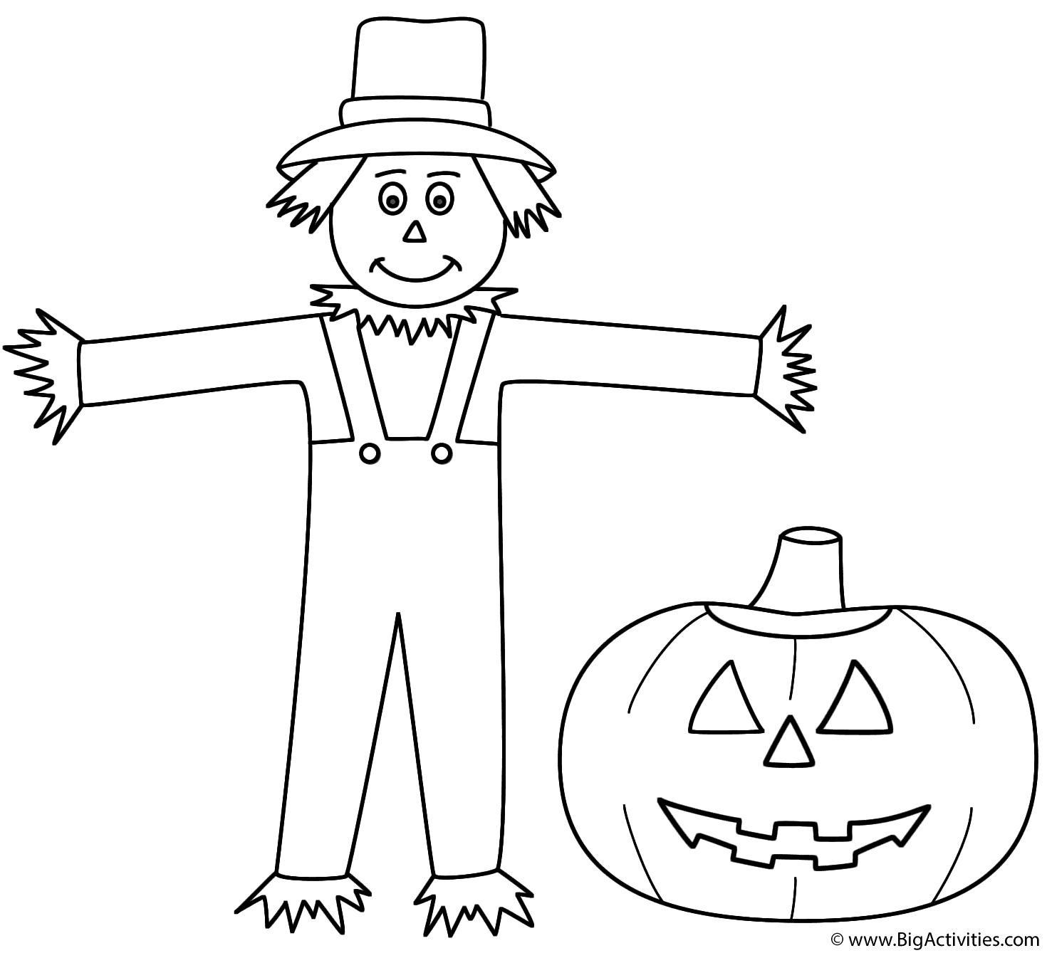Scarecrow With Pumpkin Jack O Lantern
