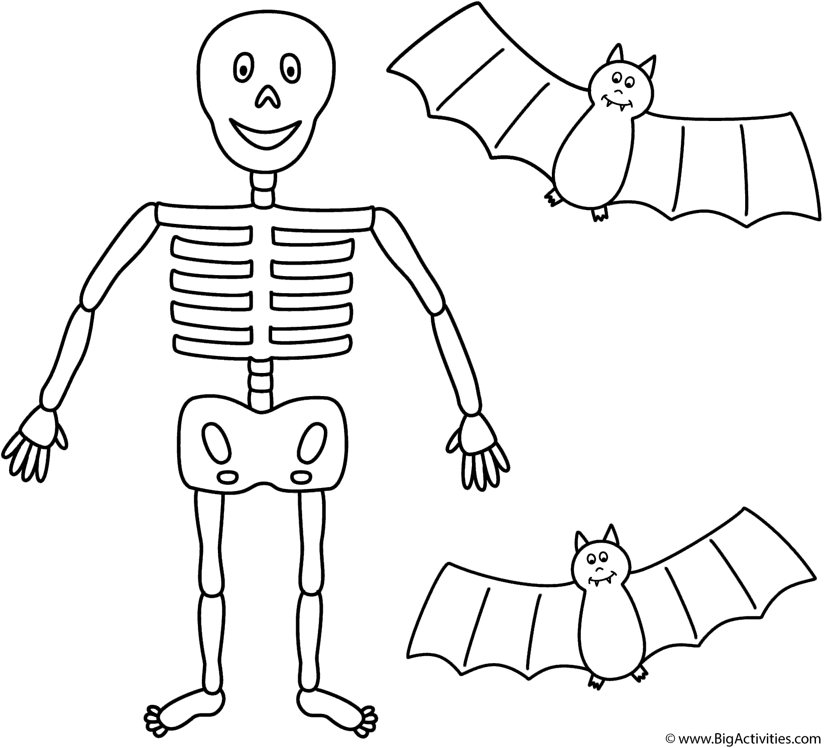 Skeleton With Two Bats