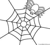 halloween spider web coloring pages
