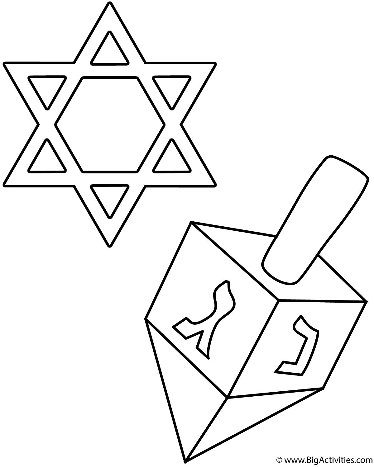 Dreidel And Star Of David