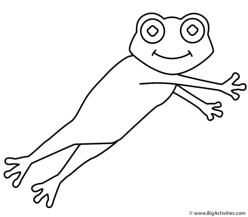 Leaping Frog Coloring Page Leap Day